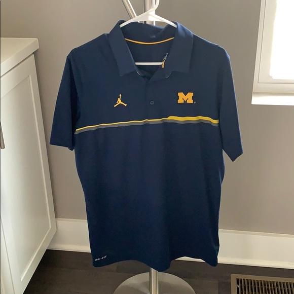 Michigan Jordan Gear >> Michigan Jordan Collared Shirt
